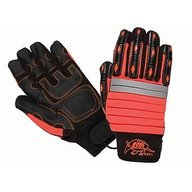 Northern Gloves – Gant de mécanicien Arma Tuff, rouge avec paume de mécanicien en cuir synthétique