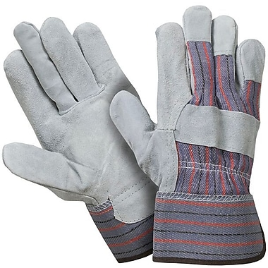 Northern Gloves Better Quality Split Leather Palm Glove, Large, Natural Leather, 24/Pack