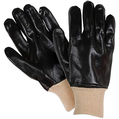 Northern Gloves PVC Coated Fluid Protection Glove, Large/XL, Black