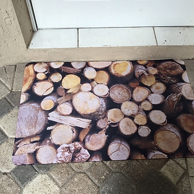 Bungalow Flooring Fo Flor Stacked Logs Doormat; 25'' x 60''