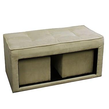 ORE Furniture Storage Ottoman w/ Hidden Seating