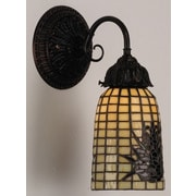 Meyda Tiffany Pine Barons 1 Light Wall Sconce
