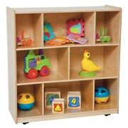 Wood Designs Center 8 Compartment Shelving Unit w/ Casters
