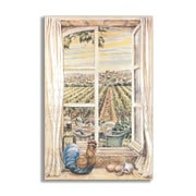 Stupell Industries French Country Faux Window Scene Painting Wall Plaque