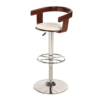 Chintaly Adjustable Height Swivel Bar Stool