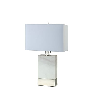 DecoratorsLighting Rockport 20'' Table Lamp; Polished Nickel