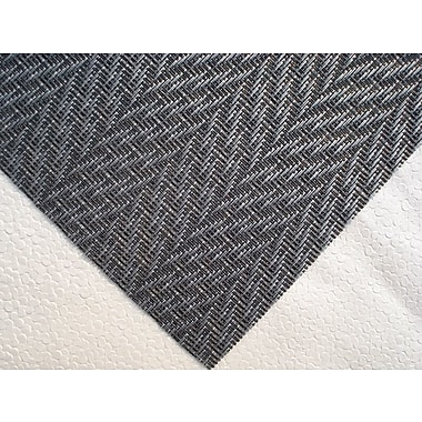 Dainty Home Chevron Placemat (Set of 4); Black/Silver
