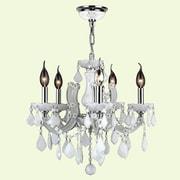 Worldwide Lighting Catherine 5-Light Crystal Chandelier; White