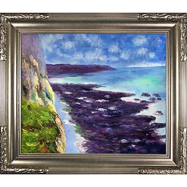 Tori Home Cliff Near Dieppe by Claude Monet Framed Painting Print