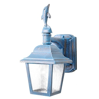 Melissa Americana 1-Light Outdoor Wall Lantern; Italian Rust
