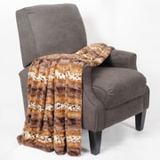 BOON Throw & Blanket Brushed Leopard Double Sided Faux Fur Throw