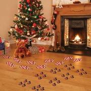 Mona Melisa Designs Winter Holidays Christmas Character Footprints Wall Decal Set