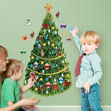 Mona Melisa Designs Winter Holidays Christmas Tree Wall Decal Set