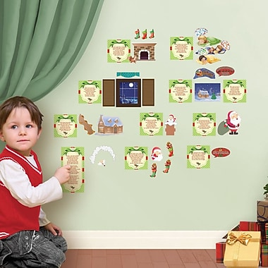 Mona Melisa Designs Winter Holidays Night Before Christmas Wall Decal Set