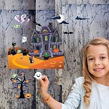 Mona Melisa Designs Fall Holidays Haunted House Wall Decal Set
