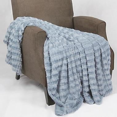 BOON Throw & Blanket Garret Faux Fur Throw Blanket; Ashley Blue