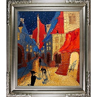 Tori Home Artisbe Night Dark Alley by Justyna Kopania Framed Painting