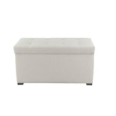 MJLFurniture Fabric Storage Bench; Beige