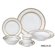 Lorren Home Trends Amelia 24 Piece Porcelain Dinnerware Set