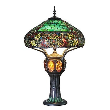 River of Goods Hampstead Tiffany Style Stained Glass 34'' Table Lamp