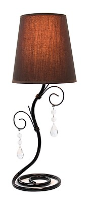 All the Rages Simple Designs LT2010-BWN Table Lamp, Twisted Vine