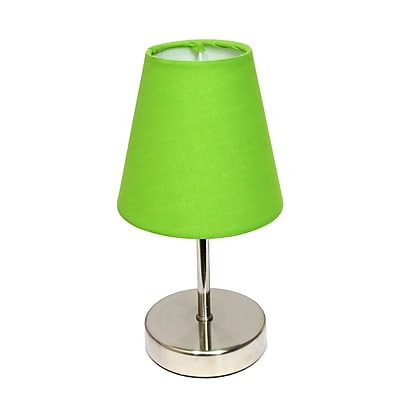 All the Rages Simple Designs LT2013-GRN Nickel Table Lamp Shade, Green