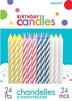 Amscan Spiral Birthday Candles, 2.5