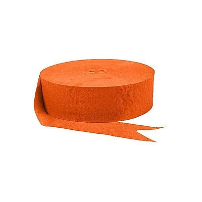 Amscan Jumbo Crepe Streamer, 1.75'' x 500', Orange, 9/Pack (18205.05)