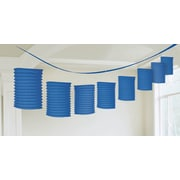 Amscan Paper Lantern Garland, 12', Bright Royal Blue, 3/Pack (22055.105)
