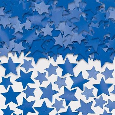 Amscan Metallic Star Confetti, 5oz, Blue, 2/Pack (37484.01)