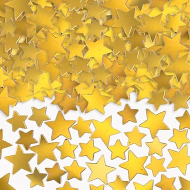 Amscan Metallic Star Confetti, 5oz, Gold, 2/Pack (37484.19)