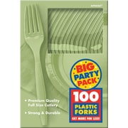 Amscan Big Party Pack Mid Weight Fork, Leaf Green, 3/Pack, 100 Per Pack (43600.115)