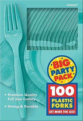 Amscan Big Party Pack Mid-Weight Fork, Robins
