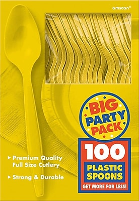 Amscan Big Party Pack Mid Weight Spoon,