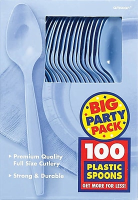 Amscan Big Party Pack Mid-Weight Spoon, Pastel
