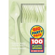 Amscan Big Party Pack Mid Weight Spoon, Leaf Green, 3/Pack, 100 Per Pack (43601.115)