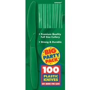 Amscan Big Party Pack Mid Weight Knife, Green, 3/Pack, 100 Per Pack (43603.03)