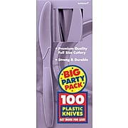 Amscan Big Party Pack Mid Weight Knife, Lavender, 3/Pack, 100 Per Pack (43603.04)