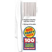 Amscan Big Party Pack Mid-Weight Knife, White, 3/Pack, 100 Per Pack (43603.08)