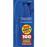 Amscan Big Party Pack Mid-Weight Knife, Royal Blue, 3/Pack, 100 Per Pack (43603.105)