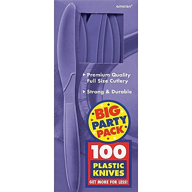 Amscan Big Party Pack Mid Weight Knife, Purple, 3/Pack, 100 Per Pack (43603.106)