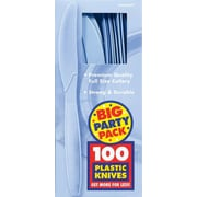 Amscan Big Party Pack Mid Weight Knife, Pastel Blue, 3/Pack, 100 Per Pack (43603.108)