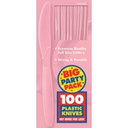 Amscan Big Party Pack Mid Weight Knives, Pink, 3/Pack, 100 Per Pack (43603.109)