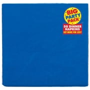 Amscan Big Party Pack Dinner Napkin, 2-Ply, Royal Blue, 6/Pack, 50 Per Pack (62215.105)