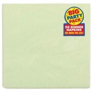 Amscan Big Party Pack Dinner Napkin, 2-Ply, Leaf Green, 6/Pack, 50 Per Pack (62215.115)