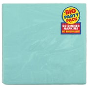 Amscan Big Party Pack Dinner Napkin, 2-Ply, Robins Egg Blue, 6/Pack, 50 Per Pack (62215.121)