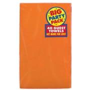 Amscan Big Party Pack Guest Towel, 2-Ply, Orange Peel, 6/Pack, 40 Per Pack (63215.05)