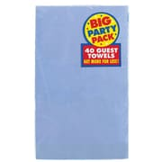 Amscan Big Party Pack Guest Towel, 2-Ply, Pastel Blue, 6/Pack, 40 Per Pack (63215.108)