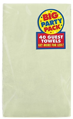 Amscan Big Party Pack 2-Ply Guest Towel, Leaf Green, 6/Pack, 40 Per Pack (63215.115)