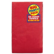 Amscan Big Party Pack 2-Ply Guest Towel, Apple Red, 6/Pack, 40 Per Pack (63215.4)